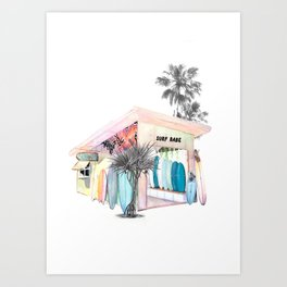 The Little Surf Shop Art Print