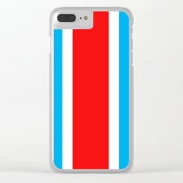 TEAM COLORS 10...RED , WHITE LIGHT BLUE Clear iPhone Case