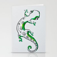 lizard Stationery Cards featuring Lizard by Olga_Kh