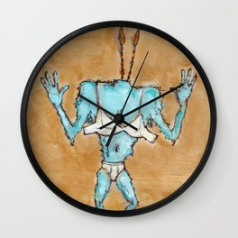 The Blinded Grump. Wall Clock