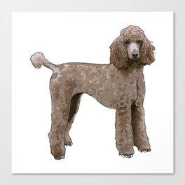 Elegant Poodle Canvas Print