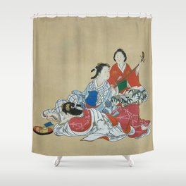 Three Beauties Shower Curtain