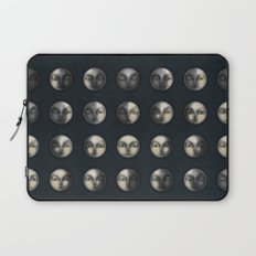 moon phases and textured darkness Laptop Sleeve