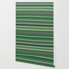 Emerald & Forest Stripes Wallpaper
