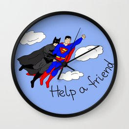 Help a friend Wall Clock