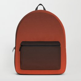 Black and orange. Gradient.  Ombre. Backpack