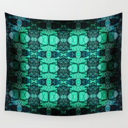 Ambient Glow Blues Wall Tapestry