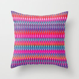 Shard Hand-Print Geometric - Bright Throw Pillow