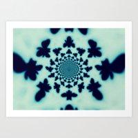 Bee Silhouette Tapestry Art Print