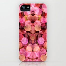 PEACH AND PINK BUBBLES iPhone Case
