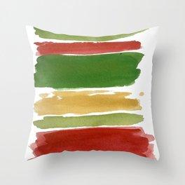 Christmas Colour Palette Throw Pillow