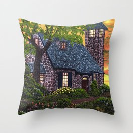 Essex House Lighthouse by Ave Hurley  Throw Pillow