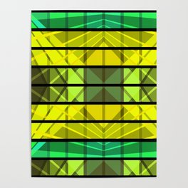 An abstract geometric pattern . Poster