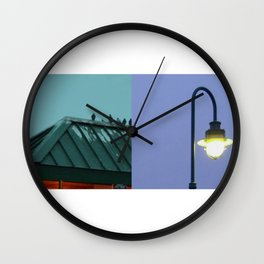 Birds diptych Wall Clock
