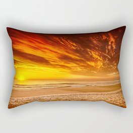 Sunrise over the Atlantic from the Outer Banks, North Carolina Rectangular Pillow