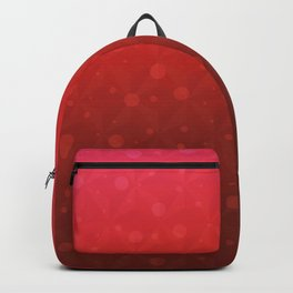 Red Tone on Tone Dots Pattern Backpack