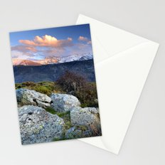 Mulhacen and Alcazaba at windy sunset Stationery Cards