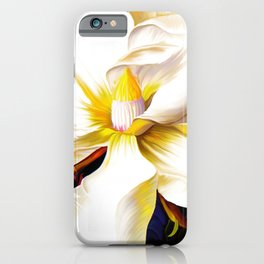 Italian Magnolia, Mediterranean floral art iPhone Case