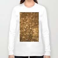 gold glitter Long Sleeve T-shirts featuring Gold Glitter 2484 by Cecilie Karoline