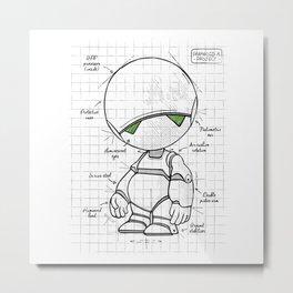 Marvin Plan Metal Print