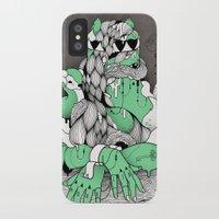 mona lisa iPhone & iPod Cases featuring Mona Lisa by Gaetan billault