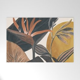 Abstract Tropical Art III Welcome Mat
