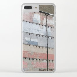 Architectural Detail Wall, Salvage, Old building, Chicago Clear iPhone Case