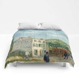 Restaurant Rispal at Asnieres by Vincent van Gogh Comforters