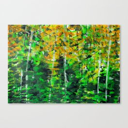 """Autumn Woodland"" Original Painting by Julia Barnickle Canvas Print"