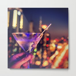 drink on dubai at disco club Metal Print