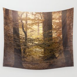 Autumn Came, With Wind & Gold. Wall Tapestry