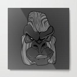 Gorilla - Harbour Mist Grey Metal Print