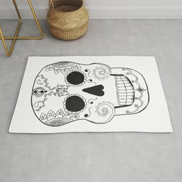 Dia de Muertos Skull (The Day of the Dead Skull) Rug