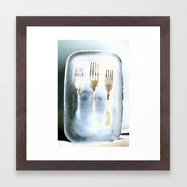 Frozen Forks Framed Art Print