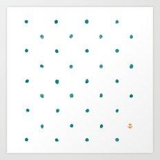 Dots Ahoy Art Print