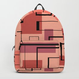 Mid Century Modern Rectangles Backpack