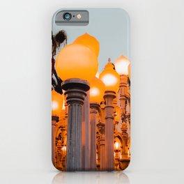 Urban Light at LACMA Los Angeles California USA iPhone Case