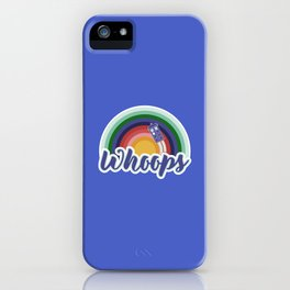 Retro Whoops iPhone Case