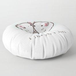 I like you a lotl axolotls Floor Pillow