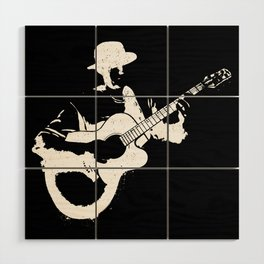 Musician playing Wood Wall Art