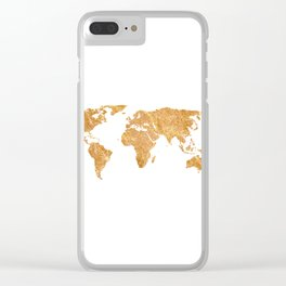 Gold World Clear iPhone Case