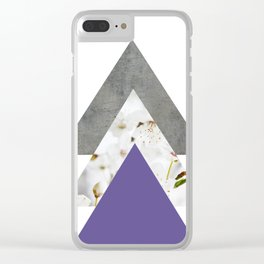 Ultra Violet Blossoms Arrows Clear iPhone Case