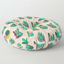Terrariums - Cute little planters for succulents in repeat pattern by Andrea Lauren Floor Pillow