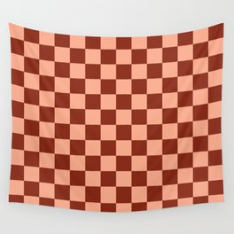 Retro Check: Candy + Merlot Wall Tapestry