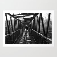Walking on passage Art Print