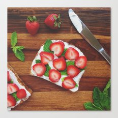 Strawberry, Cream Cheese and Mint Canvas Print