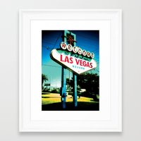 las vegas Framed Art Prints featuring Las Vegas by very giorgious
