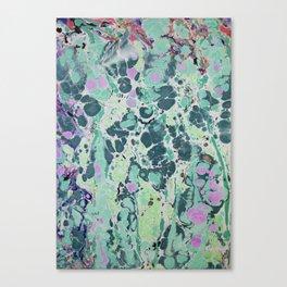 Sunken Forest marbleized print Canvas Print