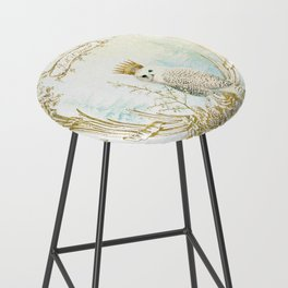 Owl Let it Snow Bar Stool