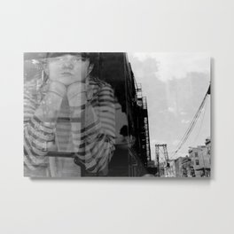 Williamsburg Bridge Analog Metal Print